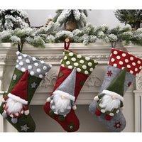 Yeni Yıl Noel Çorap Çuval Noel Hediye Şeker Çanta Noel Noel Süslemeleri Ev Natal Navidad Çorap Ağacı Decor1
