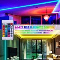 High Brightness 12V-5050 RGB WiFi Control remoto 10 metros 24 llaves 300 luces (40W) Descuento de disco doble de tira de luz