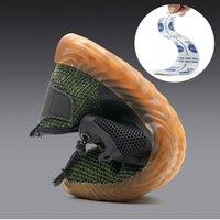 Nowe buty RYDER Siver Safety Buty Męskie Światło Sneaker Instructible Steel Toe Soft Anti-Piercing Buty Plus Size 36-48 201019