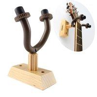 Литературный стиль гитара деревянная настенная вешалка держатель крючков стойка стойки подходит для гитарной скрипки укулеле крюк элегантный кепка ткань1