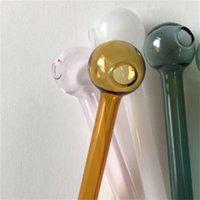 Стеклянные трубы мяч для курения аксессуары прозрачные технологии цвета случайные прямые трубы орнамент набор дыма полый дом новый 1 3HC