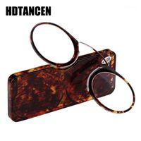 Occhiali da sole naso a riposo occhiali da lettura +1,0 +1,5 +2,0 + 2,5 +3.0 +3.5, clip reader portatile SOS portatile mini con custodia 1