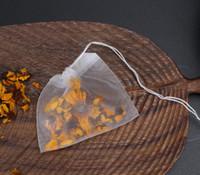 6 * 7 سنتيمتر قابلة لإعادة الاستخدام مع سلسلة شنقا الشاي أكياس فارغة غرامة نايلون شبكة سلالة تصفية حقيبة عشبة فضفاضة diy كأس الشاي