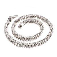 Holiday Gifts Edelstahl kubanische Kette Halskette Silber - Ton Nickel-freie hypoallergene Halskette Kielkette Kette 5mm / 6mm / 8mm 26 Zoll
