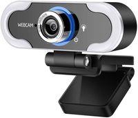 كاميرا ويب مع ضوء ملء الصمام، سطوع المعيار، ضوء الفيديو الكاميرا، كامل HD 1080P كاميرا ويب، مع ميكروفون، لأجهزة الكمبيوتر المكتبية لسطح المكتب 1