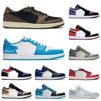 Jordan 1 SB dunk أحذية منخفضة لوح التزلج أحذية رجالي إمرأة الظل جاكسبي الماس رايجون فايوتش الطريق علامة سامبا الليزر البرتقال عارضة الأحذية