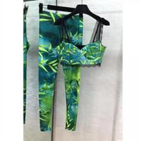 المرأة الجديدة مجموعات قطعة اثنين من السباغيتي الشريط أكمام قمم السراويل الطويلة أنثى مثير مطبوعة مجموعتين قطعة المدرج ملابس للسيدات E05