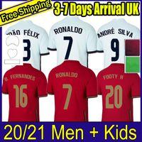 2020 Portogallo Pre Match Training Black Fernandes 2021 Soccer Jerseys 20 21 André Silva Joao Felix Pepe Polo Football Shirts Kits Set