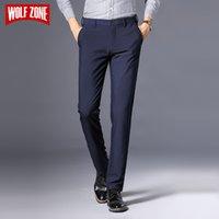 Wolf Zone Бренд Бренд Бизнес Повседневная Брюки Мужчины Новая Мода Регулярная Прямая Весна Классические Мужские Брюки Мужская Бренд Одежда 3 Цвета 201109