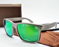 2020 Lunettes de soleil polarisées Designer Holbrook Sunglasses Lunettes de soleil à la mode pour hommes Végétal à coupe-vent en plein air avec boîte OK9102 Top Qualité