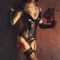 زائد الحجم الكورسيهات steampunk bustiers مثير الدانتيل مشد الأعلى القوطية نمط المرأة هزلي underbust corselet bodice lj200814