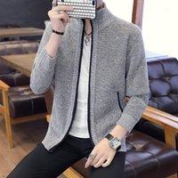 Мужские свитера Varsanol 2021 зимний свитер мужчины кардиган с длинным рукавом сплошные повседневные вязаные вязаные для одежды пальто мужчина 3xL1