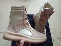 2020 Kanye Moda Yüksek Çizmeler En Kaliteli Korku Tanrı Üst Askeri Sneakers Yüksekliği Ordu Çizmeler Erkek Kadın Martin Çizmeler 38-48 Ücretsiz Kargo
