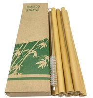 Green Bamboo Phyllostachys Heterocicla Palha natural 20cm Hotel Bebida Palhas Com Escova Milk Tea Shop Venda Quente 8 9NT F2