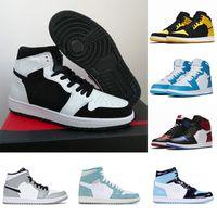 Nike Air Jordan 1 basketballshoes 1 shoes  Ayakkabı Siyah Gölge İlk 3 Erkek Tasarımcı Ayakkabı Melo Fırtına Mavi Barons Erkekler Sneakers Eğitmenler 36-46 Yasaklı