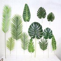 Green Willow Hoja Simulación Boda Celebración Artículos Follaje Botany Wall Decorar Tortuga Dorsal Hojas Venta Caliente 4mm P1