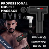 Cubicseven® Therapy Massage Guns 6 Gears Muscle Massager Pain Sport Massage Machine Relax Body Slimming Relief With 4 Heads