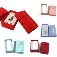 종이 쥬얼리 포장 선물 상자 펜던트 목걸이 귀걸이 반지 상자 직사각형 포장 주최자 저장 용기 6colors 5 * 8 * 2.8cm