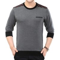 Suéteres para hombre Sweater Sweater Casual Slim Fit Jersey Jersey Jersey Male O-Cuello Thin Knit Ropa Manga Larga Plaid Jerseys