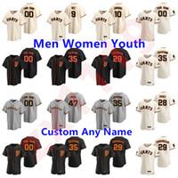 샌프란시스코 2020 Buster Posey Jersey Brandon Crawford Kevin Pillar Yasttrzemski Longoria Belt Jersey Men Women Youth Baseball
