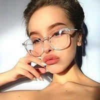 Anti Blaulicht Brillen Vintage-2020Women Female MenRound klare Linse Gläser Optische Brillengestell GlassWomen