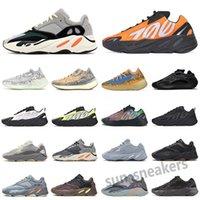 Yeezy Boost 700 Nueva inercia 700 Wave Runner Hombre Mujeres Diseñador Zapatillas de deporte Nuevo Hospital Azul 700 V2 imán Tephra Mejor Calidad Kanye West Sport Shoes 36-47 S2
