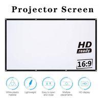 """Projeksiyon Ekranları 16: 9 Full HD Projektör Ekran Ev Sinema 60/72 84 100 120 150 """"Thuis Açık KTV Kantoor Draagbare Scherm1"""