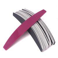 Claúrico de plástico Reemplazo de uñas Bloque de tampón de uñas Mango de metal con tiras de papel de arena negras lijando manic jllpnt