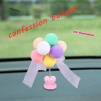 Carro ornamento automotivo adesivo de decoração arco-íris cores balão auto aderir console1