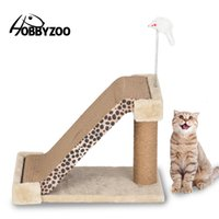 HOBBYZOO CAT скалолазание дерево кошка царапина доска двух в один леопардовый знак с Catnip