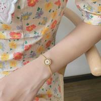 AOMU esmalte bonito Daisy Moda ajustável simples colar pulseira flor retro jogo da jóia por Mulheres Round Geometria Pendant
