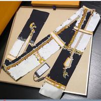 Écharpe de soie classique de haute qualité 100% Silk pour femmes Nouveau printemps Design Style Style De Chaîne longue Écharpes Écharpes Echarpes Envelopper avec Tag Châles