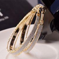 Orecchini di modo all'ingrosso Versione coreana dei nuovi orecchini in lega popolare orecchini smerigliati anello glassato orecchini