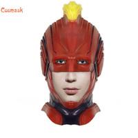 Cosmask Cadılar Bayramı kaptan Carol Danfoss süper kahraman maskesi kask