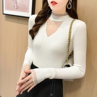 Women Fashion Basic Knitted Turtleneck Sweater Female Solid ...