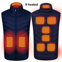 2020 NOUVEAUX Hommes Femmes Vest chauffant électrique S-4XL Chauffage Gilet Therme Thermique Vêtements Chaud Sale Veste hiver