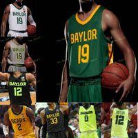 Baylor Bears College Basketball Jersey 0 Flo Thamba 1 Darius Allen 10 Adam Flagler Makai Mason 11 Mark Vital 12 Jared Butler personalizado costurado
