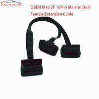 Teşhis Araçları 16 Pin Uzatma Erkek Çift Kadın OBDII OBD2 OBD-II M 2F Y Kabloları OBD 2 Splitter Bağlayıcı Kablosu1