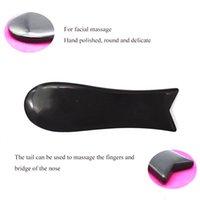 Black Obsidian Jade Guasha Board Obsidian Natural Stone Scraper Chinese Gua Sha Tools for Face Neck Back Body Acupuncture Pressure Tool