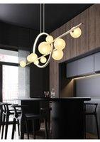 Lámparas LED Lámparas de araña Iluminación Transparente Vidrio Bola Moderno Largos Largos Restaurante Nakajima Bar Cafe Office