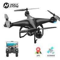 الحجر المقدس HS120D GPS RC بدون طيار Profesional FPV 1080P HD كاميرا الطائرات بدون طيار تابعني GPS Glonass Quadrocopter WiFi RC Helicopter 201208