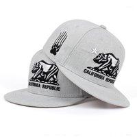 قبعات الكرة 2021 كاليفورنيا جمهورية مطرز قبعة بيسبول الأزياء شقة snapback في الظل الهيب هوب القبعات الرجال النساء العالمي hat1