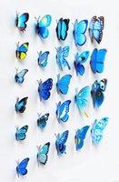 سندريلا فراشة 3d فراشة الديكور ملصقات الحائط 12 قطعة 3d الفراشات 3d فراشة pvc القابلة للإزالة ملصقات الحائط فراشة DDC3529