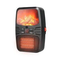 Mini calentador de llamas de salida de pared eléctrica 1000W Soplador de aire caliente remoto con soporte Llama Calentador de hogar Calentadores de espacio interior portátil