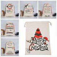 Saco de Natal sacos 37 estilos Grande lona Feliz Natal Doces Saco Santa Saco Xmas Meia Rena Presente Decoração de Natal DDA680