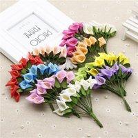 144pcs mini schiuma calla giglio floreale fiorini bouquet fiori artificiali per decorazione decorazione di nozze San Valentino presente. Q1.