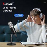 Microfones Yarmee Professional Condensador USB Microfone Computador com suporte para PC Gravação Webcast Jogo Online Video Chamada Canting1