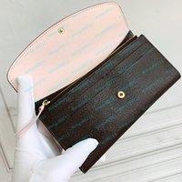 M61289 محفظة المحافظ حقائب الأزياء والجلود المرأة الطباعة سستة محافظ بطاقة حامل عملة محفظة مع مربع الغبار حقيبة