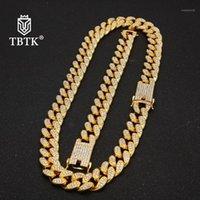TBTK 13 мм / 20 мм Miami Cuban Link Change Chem Ожерелье Браслет полных составляющих со стразами Блен Bling Hiphop Ювелирные Изделия для Men1