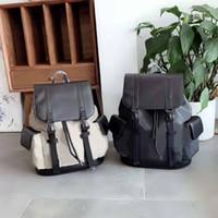 유니섹스 소녀 소년 여성 스타일 색상 일치 줄무늬 로프 버클 맨 가방 배낭 Duffel 더플 가방 다시 팩 남자 bagpack